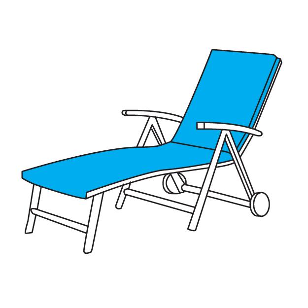 Napozóágy párna méretre készítés, UV-álló minőségi anyagok