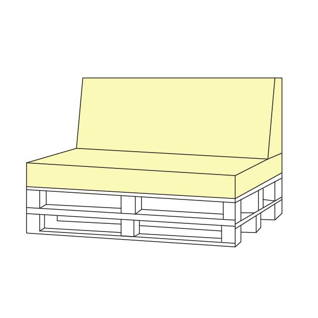 Raklap bútor párna méretre készítés, UV-álló minőségi anyagok