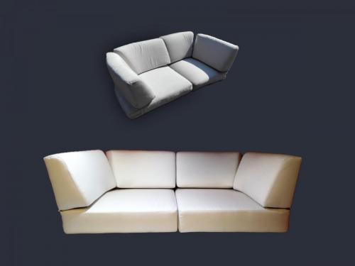 Kültéri kanapé párna új huzat készítés